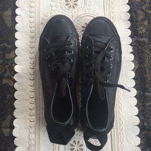 Converse Chuck Taylors Black Leather Size 41